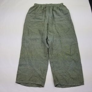Flax Medium Pants Flood Linen Beachwear Summer 106